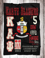 YO! HOME - Kappa Alpha Psi Personalized Fleece Blanket