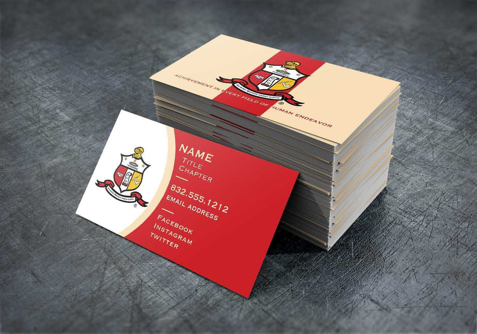 YO! OFFICE - Kappa Alpha Psi Contact Cards