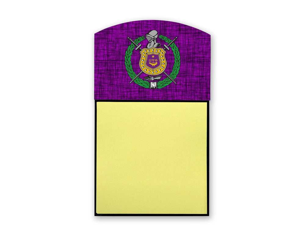RQQ! OFFICE - Omega Psi Phi Stick Note Holder Shield