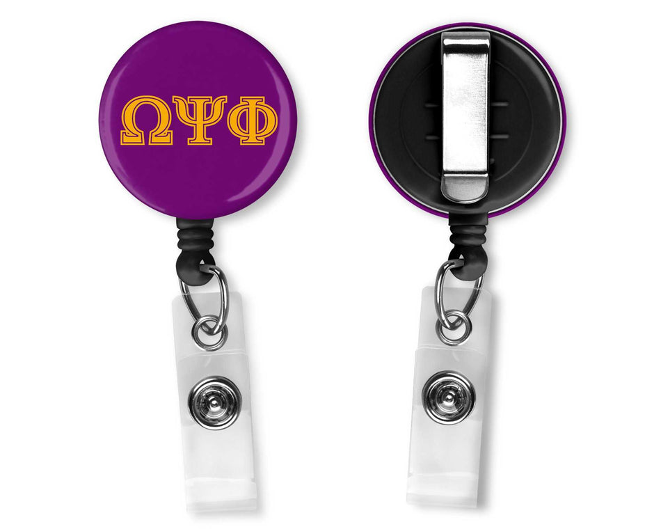 RQQ! OFFICE - Omega Psi Phi Office Badge Reel Greek Letters