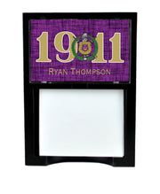Omega Psi Phi Memo Tray with personalization - Adorn Greek Gifts