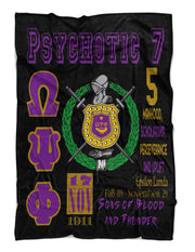 Omega Psi Phi Fraternity Blanket - MADE IN USA Adorn Greek Gifts