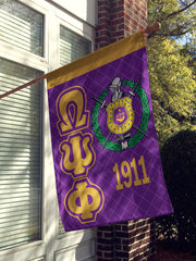 RQQ! HOME - Omega Psi Phi Garden Flag or House Flag