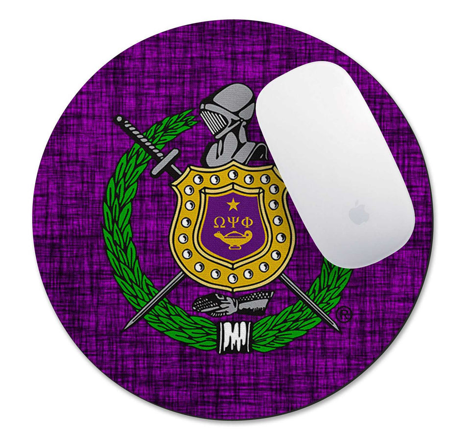 RQQ! OFFICE - Omega Psi Phi Mouse Pad - BEST SELLER!!!