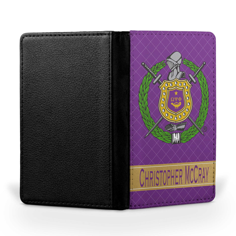 RQQ! TRAVEL - Omega Psi Phi Passport Cover