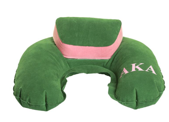 Alpha Kappa Alpha Inflatable Travel Pillow