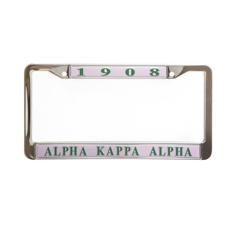 SKEE-WEE! AUTO ACCESSORIES - Alpha Kappa Alpha License Plate Frame