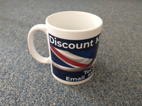 DMGRS Branded Mug - White - Wraparound Design