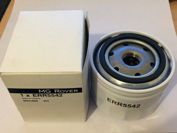 Rover L Series Oil Filter - ERR5542 inc Sump Washer - Aftermarket or Genuine Filtron (ERR5542G)