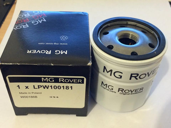 Genuine Rover K Series Oil Filter - LPW100180 / LPW100181 inc Sump Washer (1.1 / 1.4 / 1.6 / 1.8)