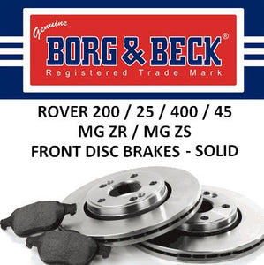 Rover 200 25 400 45 ZR ZS Solid Front Brakes - 262mm - SDB100500 and SFP000390
