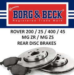 Rover 200 25 400 45 ZR ZS Rear Brakes - Disc - EGP1254 and EJP1437