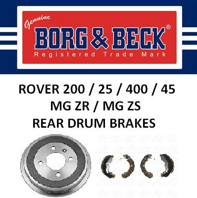 Rover 200 25 400 45 ZR ZS Rear Brakes - Drum - EGP1358 and SFS100090