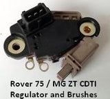75 / ZT Diesel Alternator Regulator / Brush / Slip Ring / Bearing Kits. Fits YLE000260 and YLE102500 - MG Rover