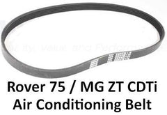 Dayco Rover 75 / MG ZT CDT/CDTi Air Conditioning Drive Belt - PQS101310, PQS101300