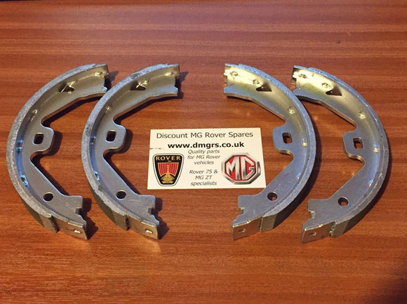 Genuine MG ZT / R75 Handbrake Shoes - Full Set. Rover SFS100190