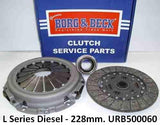 L Series (Diesel) 228mm Clutch Kit - URF000131 / URF000132. Fits Rover 200/400/600/25/45/ZR/ZS