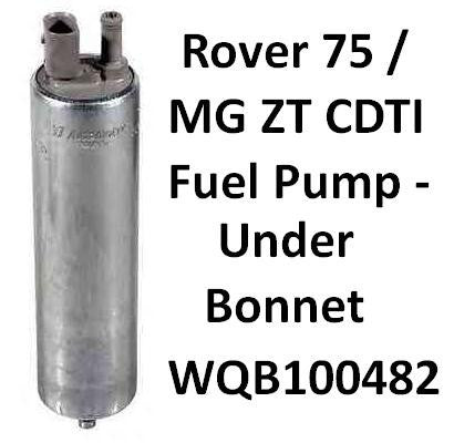 OEM-Q Under Bonnet Fuel Pump For Rover 75 / MG ZT CDT/CDTi. WQB100481 / WQB100482 (Diesel)