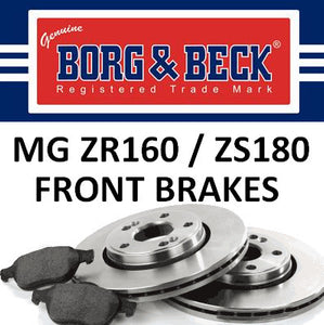 MG ZR160 / ZS180 Front Brakes - 282mm - SDB000440 and SFP000370