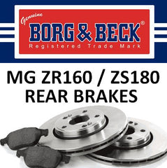 MG ZR160 / ZS180 Rear Brakes - 259mm - SDB000290 and EJP1437
