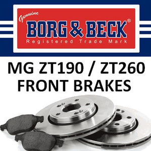 MG ZT190 / ZT260 Front Brakes - 2.5 V6 / 4.6 V8 - SDB000420 and SFP000040