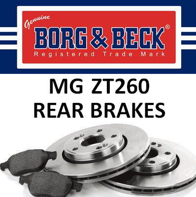 MG ZT260 Rear Brakes - 4.6 V8 - SFP000380, SDB000980 and SFS000070