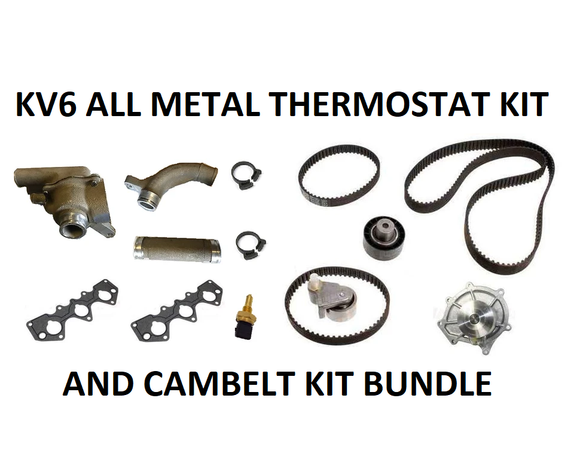 'Kaiser' All-Metal KV6 Thermostat and Cambelt Kit Bundle - Fits Rover 45 / 75 / MG ZS / ZT / Land Rover Freelander