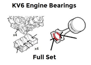 KV6 Full Engine Bearing Kit - Main and Big End Bearings - Rover 45 / 75 / MG ZS180 / ZT - LEB101200 / LEB101210 / LFB100790 / LEB101010