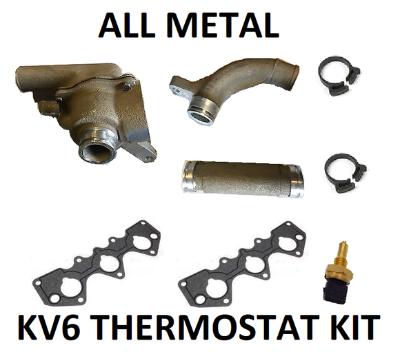'Kaiser' All-Metal KV6 Thermostat Kit PEM101050 / PEM000030 - Fits Rover 45 / 75 / MG ZS / ZT / Land Rover Freelander