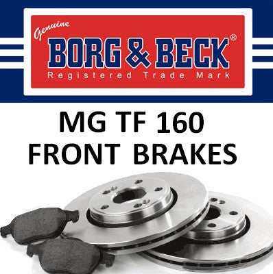 MG F / TF Front Brakes - 160 VVC/ Trophy / Sports Pack 135-SDB000232PR