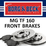 MG F / TF Front Brakes - 160 VVC