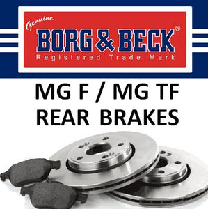 MG F / TF Rear Brakes - All Models