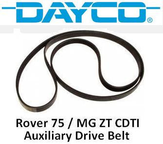 Dayco Rover 75 / MG ZT CDT/CDTi Auxiliary Belt (TD4) - PQS101300