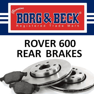 Rover 600 Rear Brakes - All Models