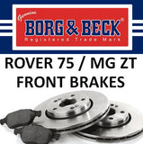 Rover 75 / MG ZT Front Brakes - 1.8 / 1.8T / 2.0 CDT / 2.0 V6 / 2.5 V6 (Not 190) - SDB000880 and SFP100520