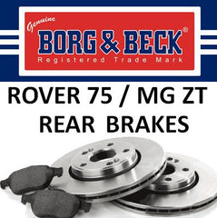 Rover 75 / MG ZT Rear Brakes - 1.8 / 1.8T / 2.0 CDT / 2.0 V6 / 2.5 V6 (Not 190) - SDB000870, SFS100190 and SFP100520
