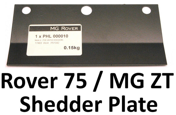 Tech Bulletin - Shedder Plate PHL000010 (75 / ZT Diesel, All Models)