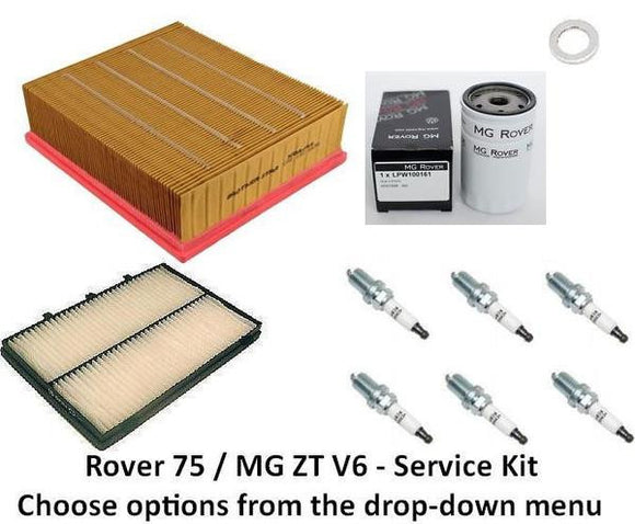 Rover 75 / MG ZT Service Kit - V6 (2.0 and 2.5)