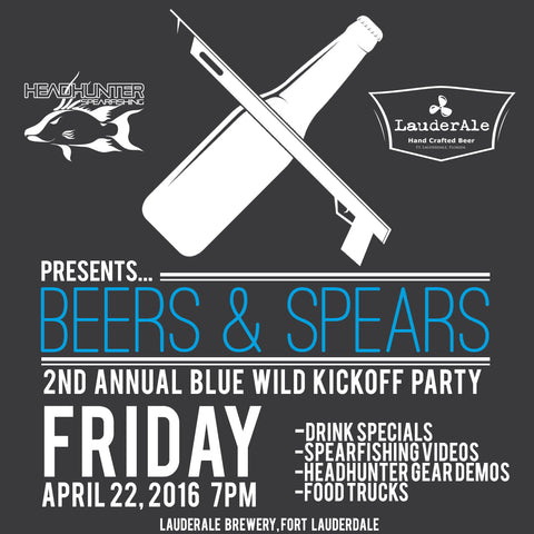 headhunter beers and spears party