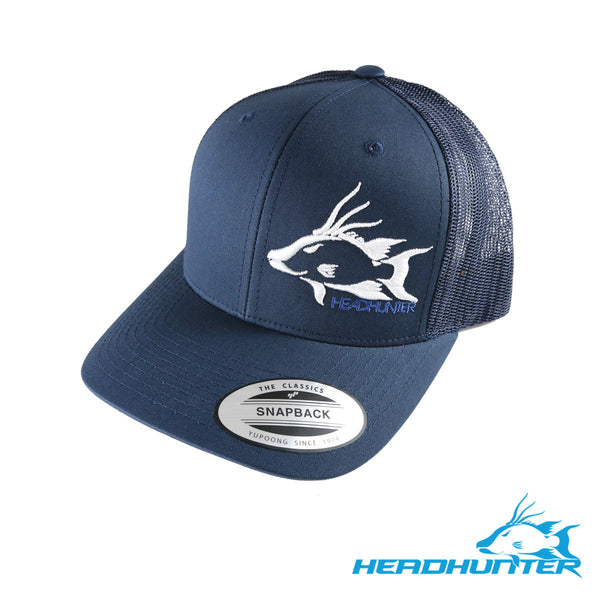 Headhunter Snapback Hat-Navy