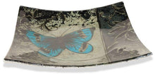 Load image into Gallery viewer, Angelstar Cozenza Collection Blue Butterfly Square Plate 6.5""