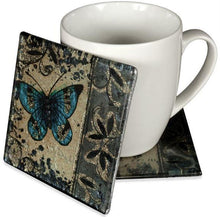 Load image into Gallery viewer, Angelstar Cozenza Collection Blue Butterfly Coaster Set-4""