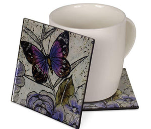 Angelstar Cozenza Collection Butterfly Scripture Coasters Set