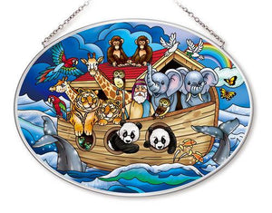 Noah's Ark Medium Oval Sun Catcher