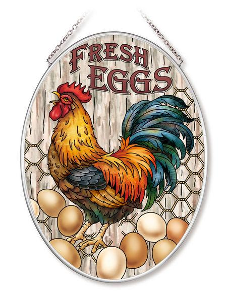 Fresh Eggs Medium Oval Sun Catcher