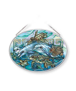 Jody Bergsma Sea Heaven on Earth Medium Oval Sun Catcher