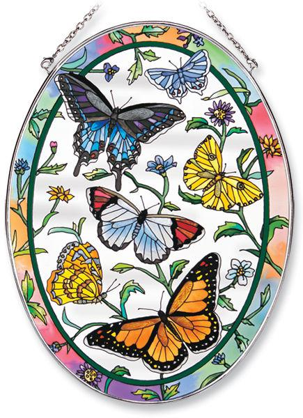Rainbows & Butterflies Large Oval Sun Catcher
