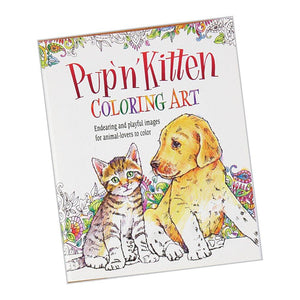 Pup and Kitten Coloring Art