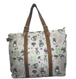 Khaki Canvas Totoro Shopping Bag - Freedom Day Sales
