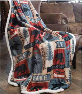 Carstens Lake Plush Blanket Throw